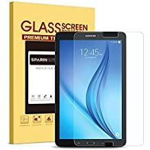 Galaxy Tab E 9.6 Screen Protector [Tempered Glass], SPARIN Ultra Clear High Definition Tempered Glass Screen Protector for Samsung Galaxy Tab E (9.6 Inch, 2015 Version)