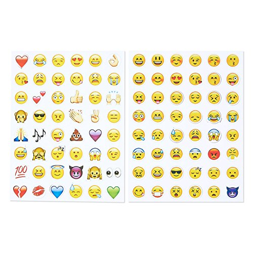 Pack of 96 Cool Emoji Magnets - Fun Magnets Round Funny Novelty Refrigerator Accessories Magnet (Cartoon Magnet)