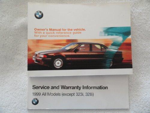1999 BMW 740i 740iL 750iL Owners Manual 740 750 i iL