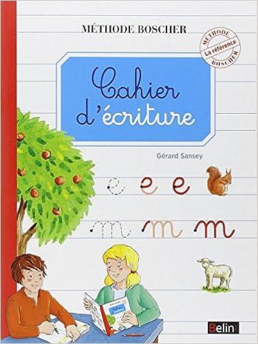 Télécharger en ligne Boscher Cahier d'criture pdf