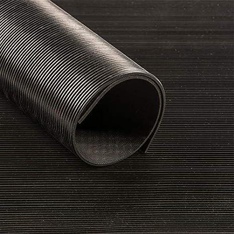 180cm breit Meterware Feinriefenmatte schwarz 3mm   Gummil/äufer Gummimatten