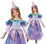 Lavender Light Up Glitter Witch Costume, Large