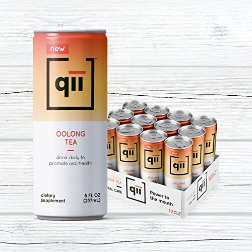 qii Oolong Tea – Removes up to 52% of plaque in one serving, Neutral pH, Sweetened with Xylitol, Dentist-Approved, Brewed with Certified Organic Tea, 30 calories, 12 pack - 8 (Oolong Tea Drinks)