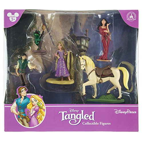 Disney Park Tangled Rapunzel Figurine Playset Play Set Cake (Golden Set Figurine)