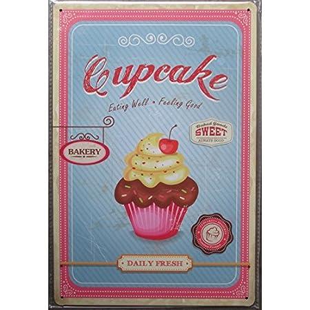 Hotrodspirit - Placa con diseño de «Cupcake» - Chapa decorativa ...