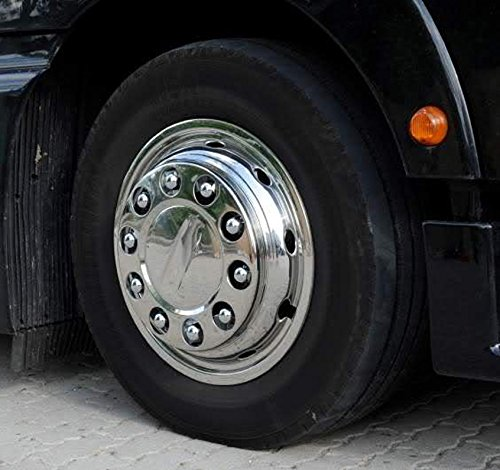 Lot de 20/universelle Camion /Écrou de roue Capuchons 32/mm largeur Cl/é en acier inoxydable