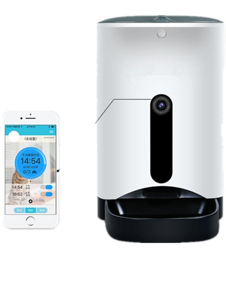 Natood Smartphone-App-Steuerung 4,3 L Pet Feeder Pet Bowl – bis zu 4 Mahlzeiten A Tag