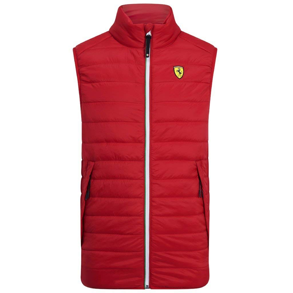 L Scuderia Ferrari Mens F1 Red Vest Branded Sports Merchandising B.V