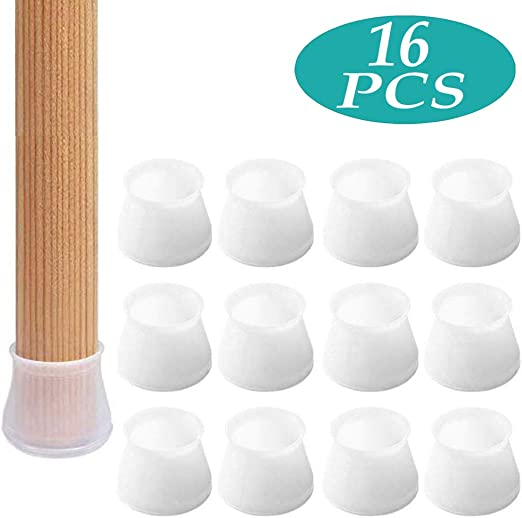 4-16pcs Silicone Furniture Leg Protection Cover Table Feet Pad Floor Protectors