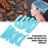 "100 Pack 21"" Disposable Nonwoven Bouffant Caps Hair"