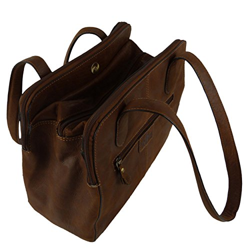 Rowallan of Scotland, Borsa a spalla donna Marrone Cognac Tan Brown