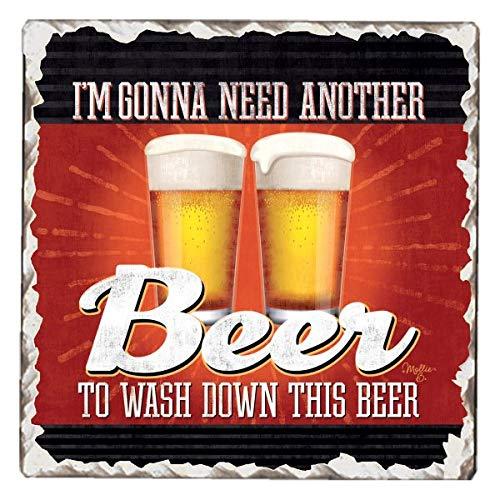 CounterArt Single Tumbledタイル吸収性コースター、I ' m Gonna Need Another Beer   B078YZKBWZ