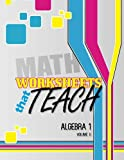 Worksheets That Teach: Algebra 1, Volume II, Quantum Scientific Quantum Scientific Publishing, 1496024915