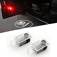 Karono(TM) 2pcs Car Door LED Logo Laser Courtesy Emblem Shadow Welcome Projector Lamp Light for Cadillac SRX XTS ATS CTS