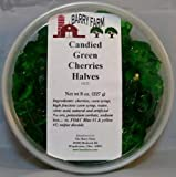 Candied Green Cherry Halves, 8 oz.