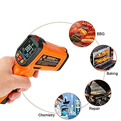 Infrared Thermometer, Non Contact Laser Thermometer Gun for Oven Kitchen Cooking BBQ Automotive Industrial, -58? ~ 1022? with LCD Display