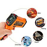 Infrared Thermometer, Non Contact Laser Thermometer Gun for Oven Kitchen Cooking BBQ Automotive Industrial, -58℉ ~ 1022℉ with LCD Display