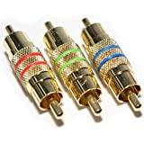 3 RCA Male to Plug Coupler/Joiner Adapter - Component RGB Cable/Lead PHONO Video - CableFinder