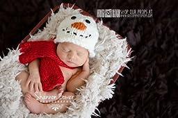 Snowman Christmas Newborn Photo Props, Holiday Hat Photography Prop, Baby Props, Newborn Prop, Photo Props, Handmade Hat, Baby Boy, Girls