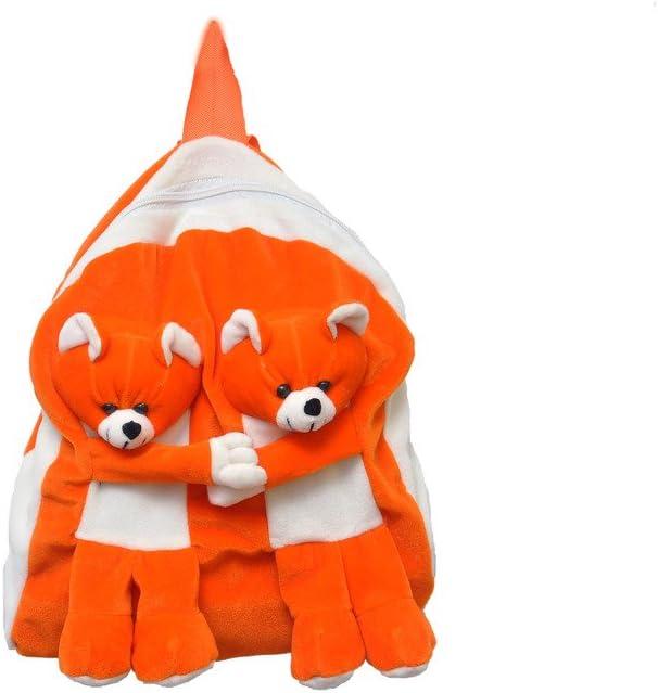 Vpra Mart Orange Twins Bear Soft Toy bag