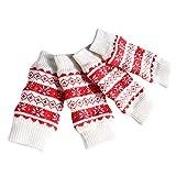 Baoblaze 4-Count Dog Leg Winter Warm Socks, Puppy Arthritis Wounds Hurt Leg Bandage Sock - Red M