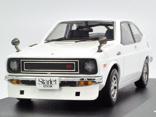 IXO 1/43 TOYOTA Starlet 1200 SR 1973 Weiß Strret Racer Version (japan import)