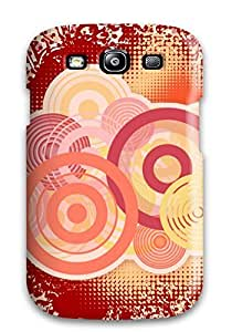 Galaxy Cover Case - Vector Rounds Protective Case Compatibel With Galaxy S3