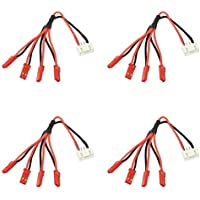 4 x Quantity of Walkera Runner 250 (R) Advanced GPS Quadcopter Drone 3S Li-Po Balance Plug JST-XH to 4x Male JST LED Power Distribution Lead Wire - FAST FREE SHIPPING FROM Orlando, Florida USA!