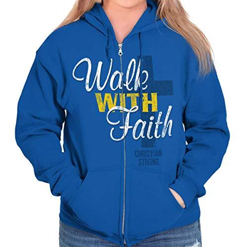Walk with Faith Jesus Christ Christian Love Zip Hoodie