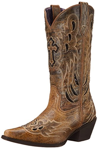 Laredo Womens Crosswing Western Boot Taupe / Nero