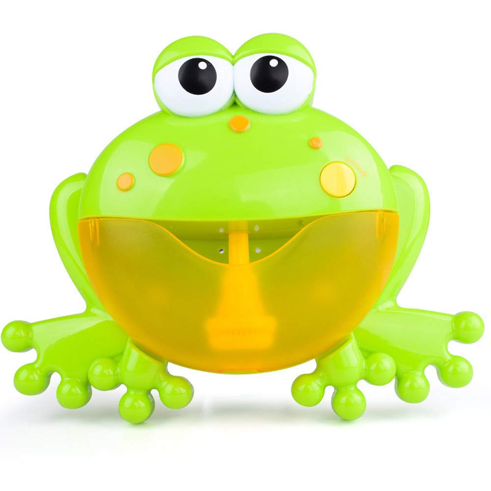 Unpara 2018 Baby Bubble Machine Tub Big Frog Automatic Bubble Maker Blower Bath Toy With 24 Music Song (Green)