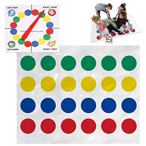 ONcemoRE Classic Twister Game That Ties You Up In Knots Board Toy Fun Party Family Gift - Twister Mat Halloween Costume