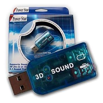 Power Star CL-SU4CHA - Tarjeta de Sonido Externa (USB, chipset C-Media)