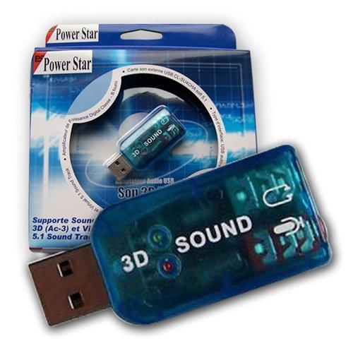 POWERSTAR CL-SU4CHA USB Soundcard Soundkarte