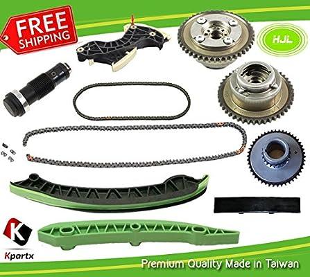 Amazon.com: TIMINIG CHAIN KIT+ 2 PCS CAMSHAFT VVT GEARS FIT MERCEDES BENZ M271 TURBO CHARGED 1.8 L C250 W204 SLK250: Automotive