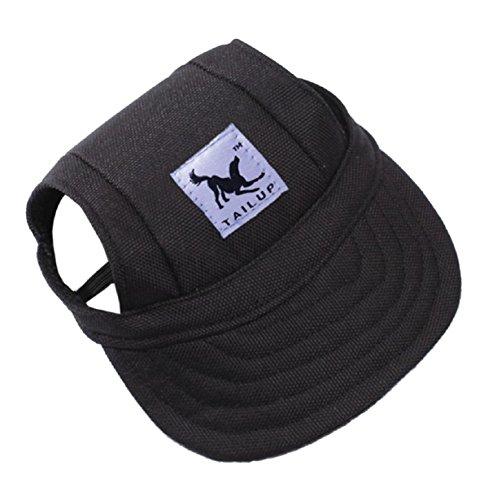 Vovotrade Pet Summer Canvas Cap Dog Baseball Visor Hat Puppy Outdoor Cap (S, B)