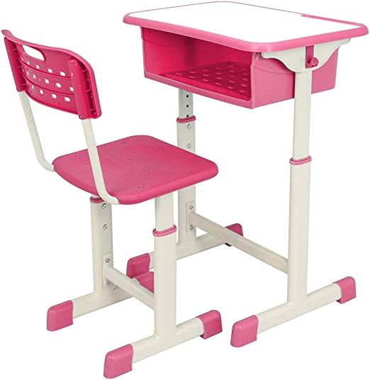 Amazon.com: Kids Desk and Chair Set-Height Adjustable Childs ...