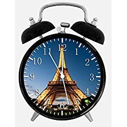 Eiffel Tower Alarm Desk Clock 3.75 Home Office Decor W398 Nice For Gifts