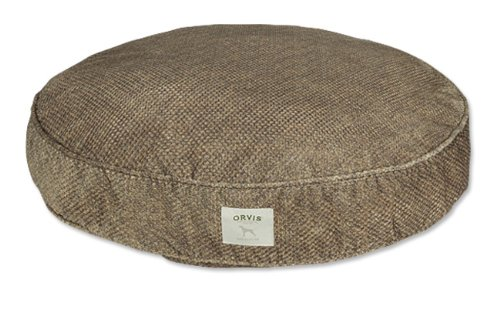 Orvis Microfiber Dog's Nest Round Covers / Large, Brown Tweed Nest Large Bed Cover