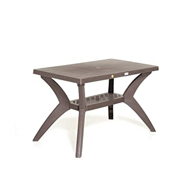 Varmora Plastic Rectangular Dining Table Savor, 122.5 x 11 x 91 cm (Brown, VRDN24VSV)