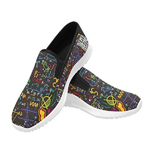 Interestprint Femmes Slip-on Mocassins Chaussures Toile Mode Sneakers Multi 7