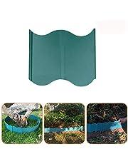 20 Pack Landscaping Edging Garden Border Leaf Scoops Interlocking Lawn Edging Plastic Green
