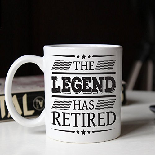 Retirement gift, Retired Coffee Mug, The legend has retired, Funny retirement gifts