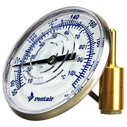 Pentair SL2D 50/220-Degree Fahrenheit Inline Thermometer with 1/2-Inch NPT Threaded for Solar Applications by Pentair