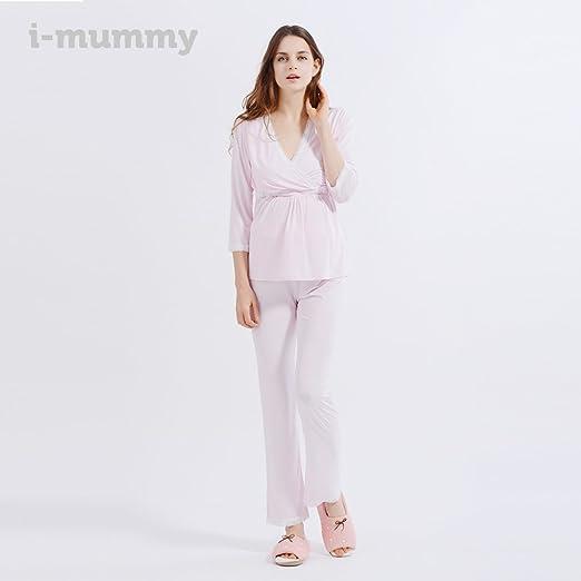 i-baby Camisón Lactancia Amamantando Conjunto de Pijamas Mujer Embarazada de Manga Larga y Pantalon Largo para Premamá Maternidad: Amazon.es: Ropa y ...
