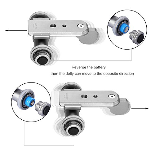 Kamisafe KINGJOY PPL-06 Mini Motorized Electric Track Slider Dolly Car 3-Wheel Video Pulley Rolling Skater Compatible with Canon Nikon Sony DSLR Camera Camcorder iPhone Samsung Huawei Cellphones