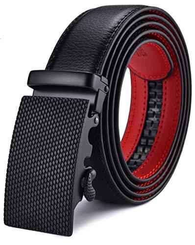Men's Belt, Xgeek Ratchet Belt of Genuine Leather 1 3/8 Adjustable Automatic Belt for Men (black1, Waist:36-43) (black1, Waist:36-43) (black6, Waist:36-43) ()