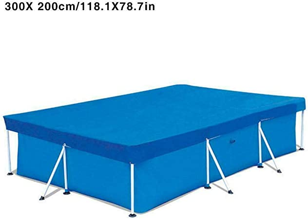 Above Ground Swimming Pool Cover Rectangular UV-resistant Waterproof Dust Cover