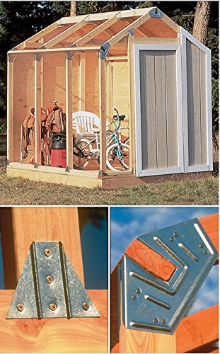 Gardening and Lawn Care-Storage Shed-Hopkins Peak Roof Shed Kit-Perfect Storage,Easy Assembly and Designed with a Sturdy Frame by Hopkins