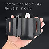 EDC Leather Knife Belt Sheath Tool Pouch, Small